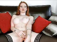 Big Boobs, British, Masturbation, Redhead