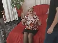 Blowjob, Cumshot, German, Granny, Threesome