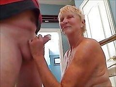 Granny, Cumshot, Mature, Blowjob