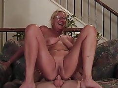 Blowjob, Facial, Granny, Blonde, Big Boobs