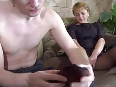 Blowjob, Foot Fetish, Pantyhose