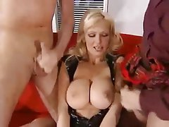 Big Boobs, Blonde, Double Penetration, German, Threesome