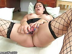 British, Mature, Mature, MILF, Stockings