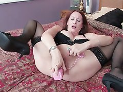 Big Boobs, Brunette, Masturbation, MILF, Pantyhose