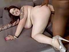 BBW, Big Boobs, Big Butts, Blowjob, Interracial