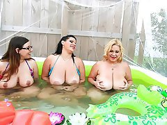 BBW, Big Boobs, Group Sex