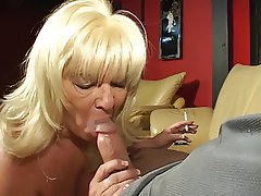 Blowjob, Facial, Blonde, Handjob, Mature