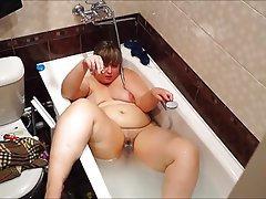 BBW, Big Boobs, Big Butts, Russian, Shower