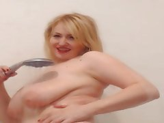 Blonde, Big Boobs, Shower, Mature