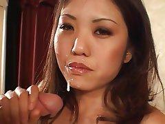 Interracial, Asian, Big Boobs, Brunette, Facial