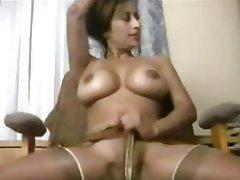 Big Boobs, Indian, Stockings