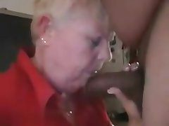 Blowjob, Granny, Handjob, Interracial, Mature