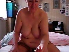 Granny, Cumshot, Mature, Handjob