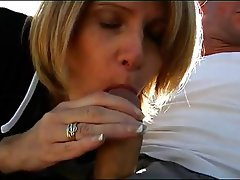 Blonde french mature loves deep anal