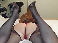 Amateur, Foot Fetish, MILF, Stockings
