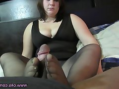 Blowjob, Foot Fetish, Pantyhose, Stockings, Teen