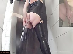 BDSM, German, Latex, Mature, Shower