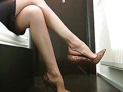 Foot Fetish, Pantyhose, POV