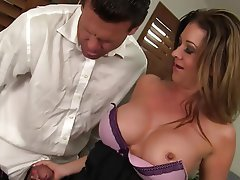 Big Boobs, Blowjob, Brunette, Mature, MILF