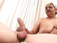 Big tit granny creampie