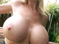 Big Boobs, Blonde, Masturbation, Outdoor
