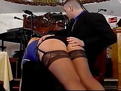 British, Spanking, Stockings