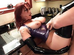 Hardcore, High Heels, Latex, Redhead, Stockings