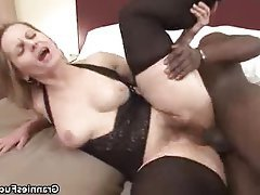 Granny, Hardcore, Interracial, Lingerie, Mature