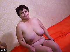 Czech, Granny, Masturbation, Mature