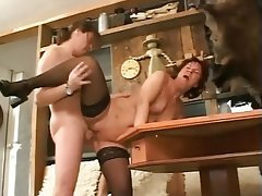 Cumshot, German, Hardcore, Old and Young, Stockings