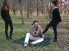 Femdom, Foot Fetish, Italian, Outdoor, BDSM
