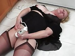 Masturbation, Stockings, Mature