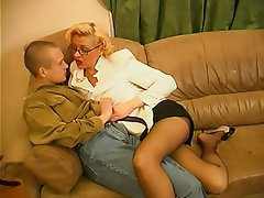 Mature, MILF, Pantyhose, Old and Young, Russian