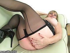 Mature, Stockings, MILF, British