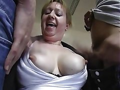 Amateur, Anal, Blowjob, Granny, Threesome