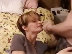 Blowjob, Cum in mouth, Facial, Handjob