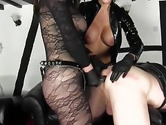 Big Boobs, Femdom, High Heels, Latex, Strapon
