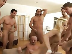 Cum in mouth, Cumshot, Facial, Gangbang, Party