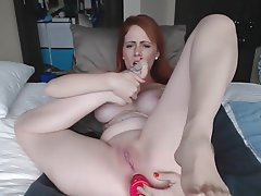 Anal, Babe, Masturbation, Redhead, Foot Fetish