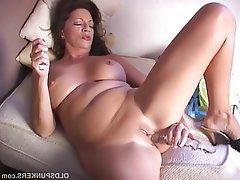 Brunette, Mature, Masturbation, Mature, MILF, Pussy