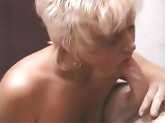 Blowjob, Facial, Granny, Mature