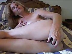 Webcam, Masturbation, Mature, Dildo
