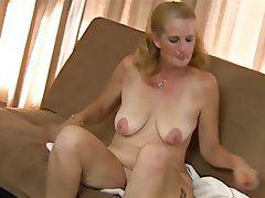 Blonde, Granny, Masturbation, Mature