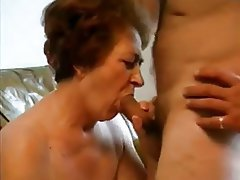 Blowjob, Facial, Granny, Mature, Old and Young