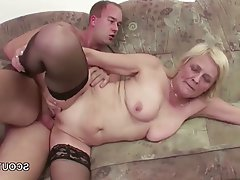Facial, Granny, Hardcore, Stockings, Teen