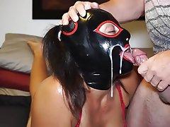 Amateur, BDSM, Cum in mouth, Latex, BDSM