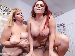 BBW, Big Boobs, Group Sex, Student