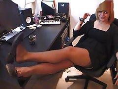 Femdom, Foot Fetish, French, Mistress, Stockings