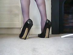 British, Foot Fetish, High Heels, Latex