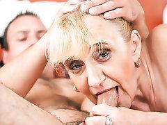 Anal, Granny, Dildo, Saggy Tits, Mature